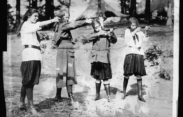 Girlscouts Shooting Guns