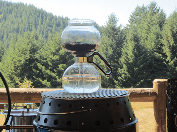 brewing coffee without electricity